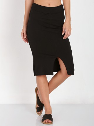 LNA Clothing Harley Slit Skirt Black
