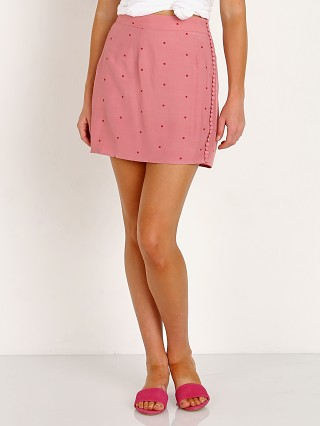 For Love & Lemons Rosie Dot Mini Skirt Rose Dot