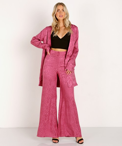 For Love & Lemons Lara Smoking Jacket Dusty Rose