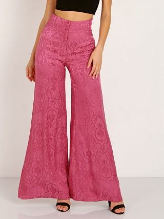 For Love & Lemons Lara Wide Leg Trouser Dusty Rose