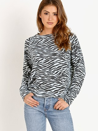 Model in zebra LNA Clothing Brushed  Vintage Raglan
