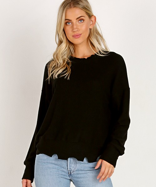 LNA Clothing Brushed Duncan Sweater Black