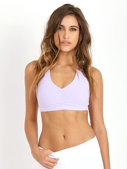 Beyond Yoga Strappy Twist Back Bra Frosted Lilac