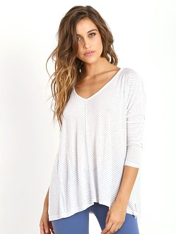 Beyond Yoga Live Fully Boxy Top White Stripe