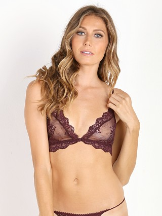Only Hearts So Fine with Lace Bralette Wine