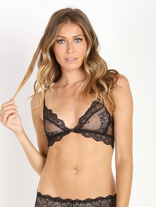 Only Hearts So Fine with Lace Bralette Black