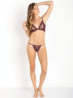 Only Hearts So Fine with Lace G-String Wine