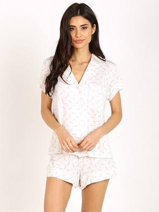 Eberjey Plume Of Love Short Sleeve PJ Set Cloud Grey