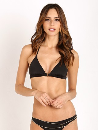 Beach Bunny Tribal Theory Bralette Bikini Top Black