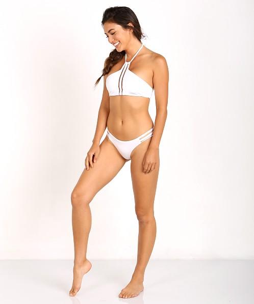 d0174aac62b Beach Bunny Sheer Addiction High Neck Bikini Top White B16125T5 - Free  Shipping at Largo Drive