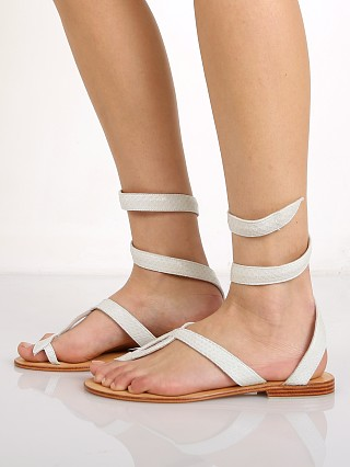 Cocobelle L Space Snake Wrap Sandals Ivory