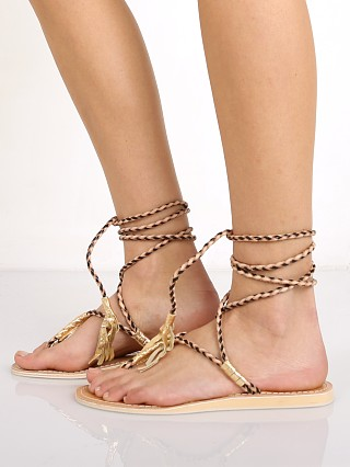 Cocobelle L Space Gili Ankle Wrap Braid Sandals Black