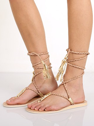 Cocobelle L Space Gili Ankle Wrap Braid Sandals Sand