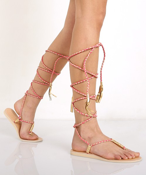 Cocobelle L Space Gili Long Wrap Braid Sandals Hot Coral L-GLL - Free  Shipping at Largo Drive c8e99569ca