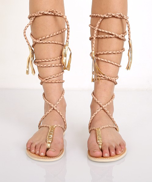 Cocobelle L Space Gili Long Wrap Braid Sandals Sand