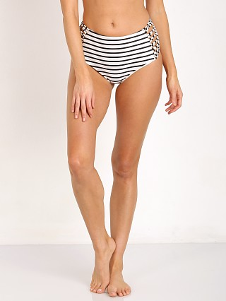 Amuse Society Sola Stripe High Rise Bikini Bottom Casa Blanca