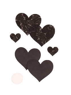 Bristol 6 Heart Nippies Black