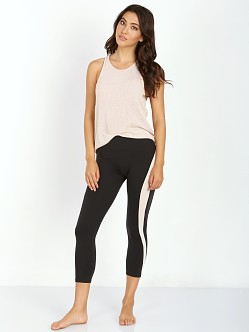 SOLOW Racer Stripe Capri Legging Black/Blush