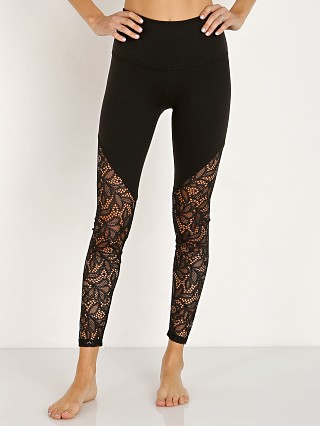 Beyond Yoga High Cut Lace High Waisted Midi Legging Jet Black