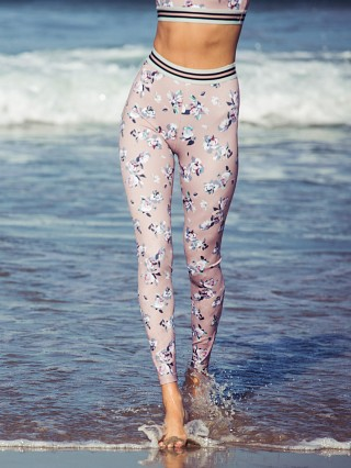 Beyond Yoga Olympus High Waisted Legging Impression Floral Blush