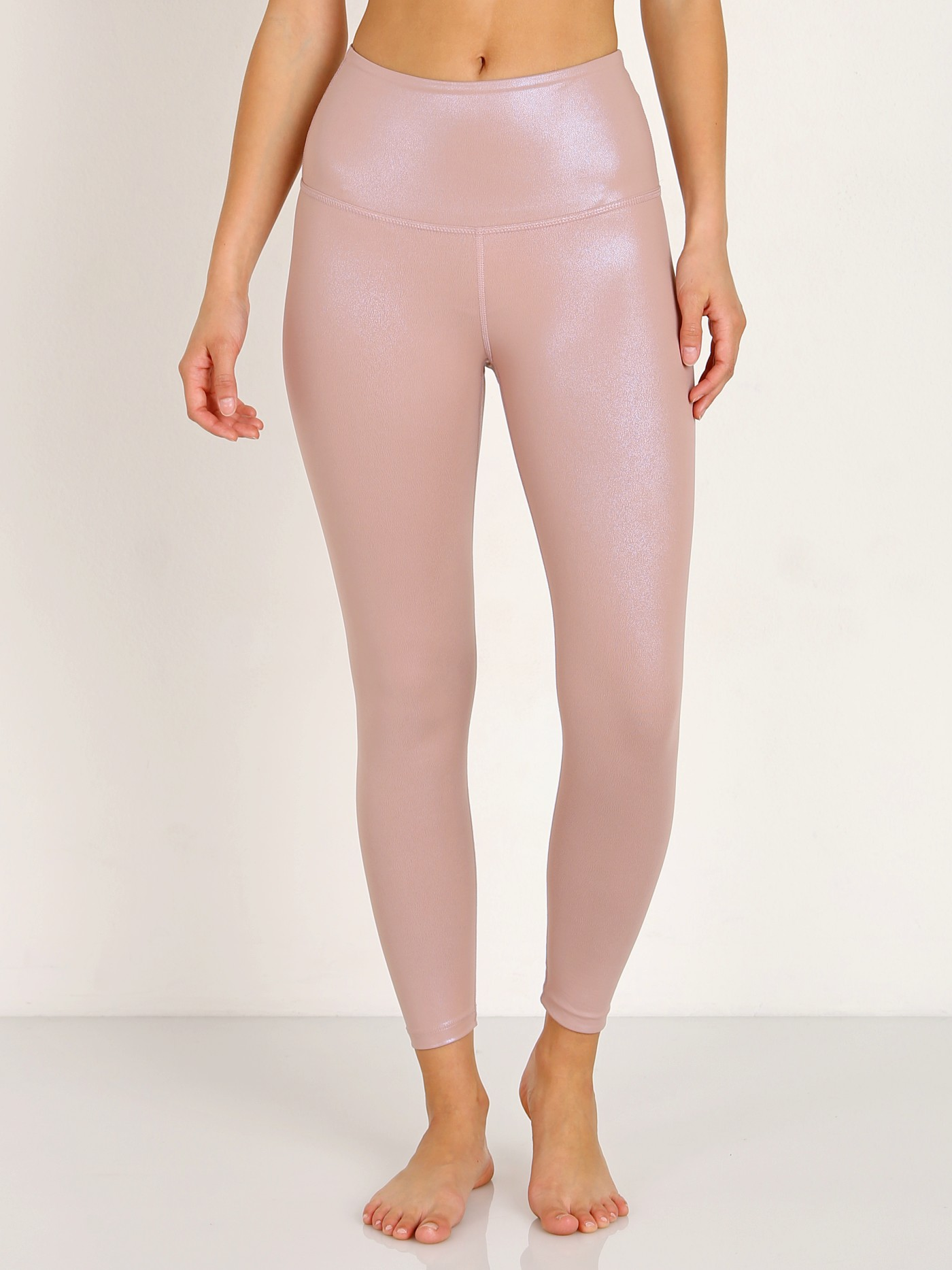 e1bfacb169583 Beyond Yoga Pearlized High Waisted Midi Legging Brazen Blush PE3243 - Free  Shipping at Largo Drive