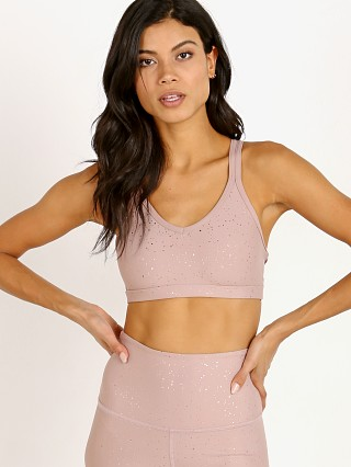 Beyond Yoga Alloy Speckled Double Back Bra Brazen Blush Rose Gol