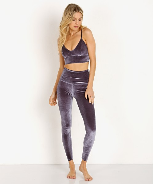 Beyond Yoga Velvet Motion High Waisted Midi Legging Deep Amethys