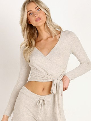 Beyond Yoga All Around Wrapped Cropped Oatmeal Heather