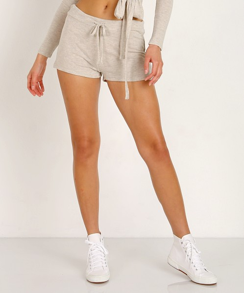 Beyond Yoga Brushed Hacci Jogger Shorts Oatmeal Heather