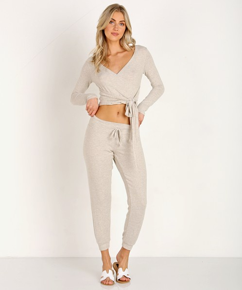 Beyond Yoga Lounge Around Midi Jogger Oatmeal Heather