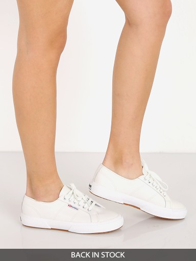 Superga 2750-NAPPALEAU Sneaker White Leather