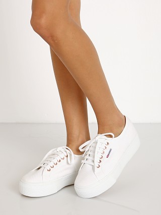 Superga 2790ACOTW LINEA UP AND DOWN Sneaker White-Rose Gold
