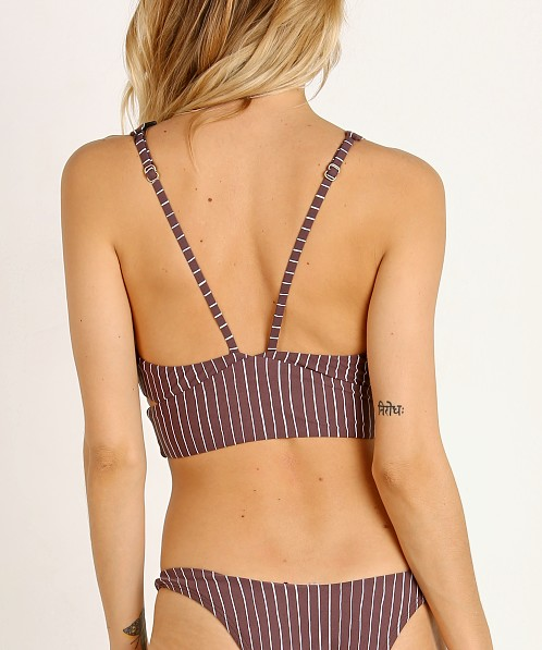 Vitamin A Nicole Bikini Top Cigar Stripe