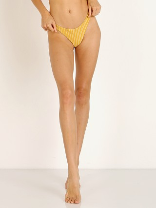 Vitamin A California High Leg Bikini Bottom Dorada Stripe