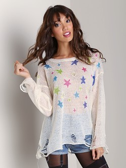 Wildfox Couture Nighttime Lennon Sweater Champagne