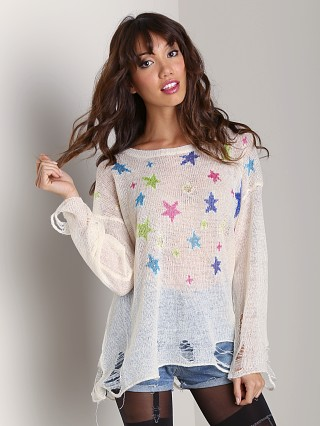 WILDFOX Nighttime Lennon Sweater Champagne