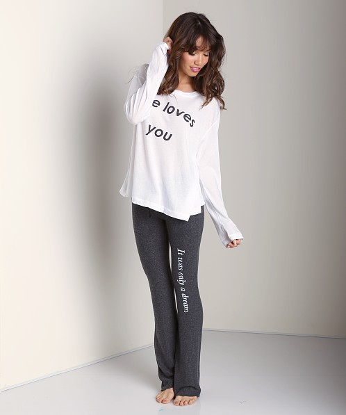 WILDFOX It Was Only A Dream Tennis Club Pant Clean Black