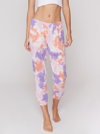 Spiritual Gangster Perfect Sweatpant Purple Sherbert Tie Dye