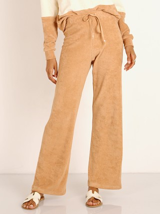 Complete the look: DONNI. Terry Cropped Flare Pant in Latte