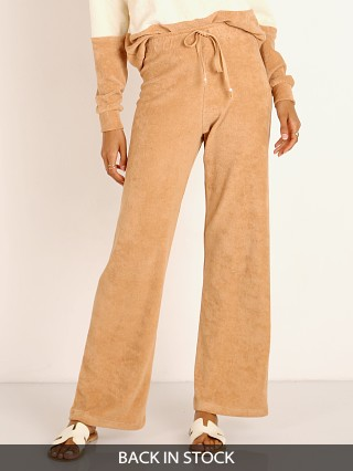 DONNI. Terry Cropped Flare Pant in Latte