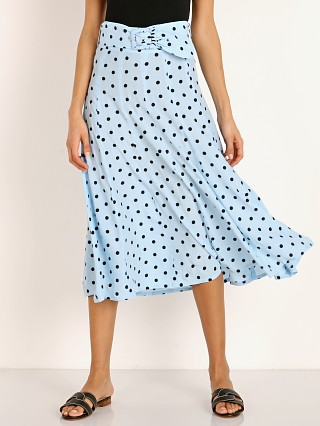 Faithfull the Brand Luda Midi Skirt Sylve Dot Print