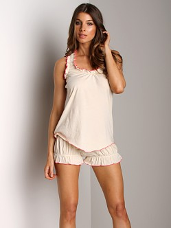 Undrest Signature Racer Camisole Natural/Watermelon