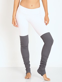 alo Goddess Ribbed Legging Pink/Stormy