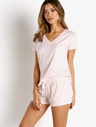 Model in swish dot Splendid V Neck Shortie Set