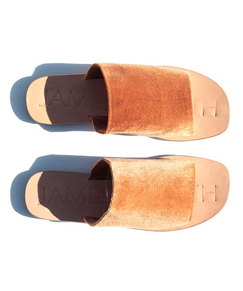 James Smith Off Duty Slide Marigold Velvet
