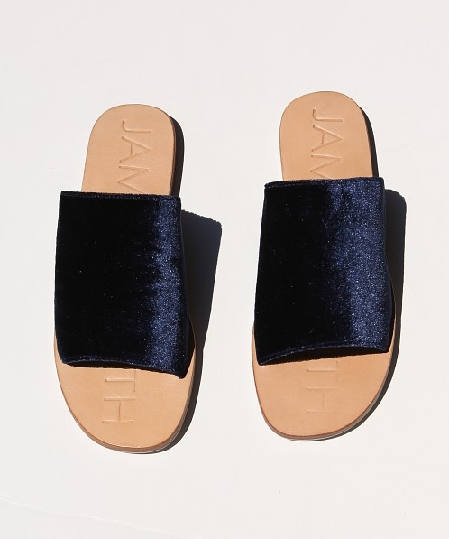James Smith Off Duty Slide Navy Velvet