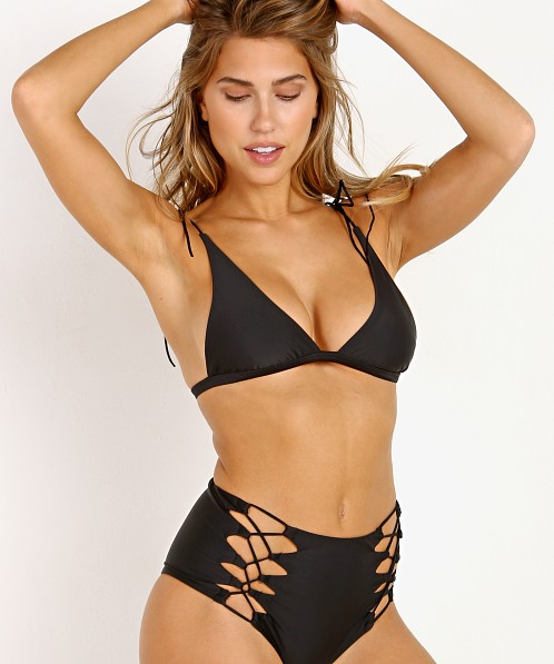 Beach Riot Marina Top Black