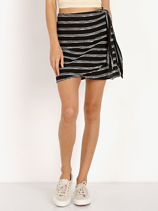 Beach Riot Lexi Wrap Skirt Black
