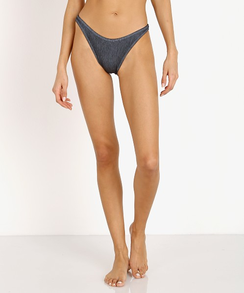 Solid & Striped The Eva Bikini Bottom Denim