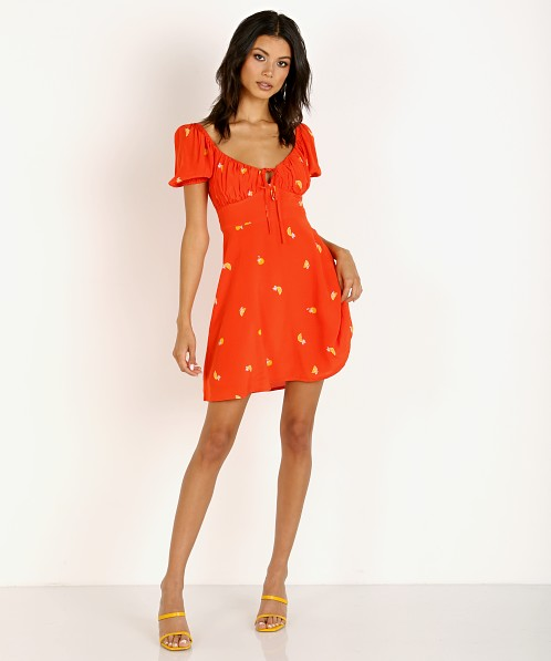ASTR the Label Nancy Dress Atomic Orange